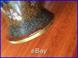 12 Large Pair Antique Japanese Chinese Cloisonné Vases Meiji Period dragon