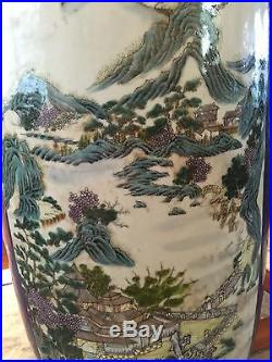 A Very Large and Massive Chinese Powder Blue Porcelain Vase