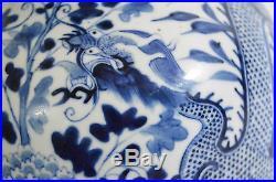 A large 19th Century Chinese blue&white porcelain double gourd vase Kangxi mark