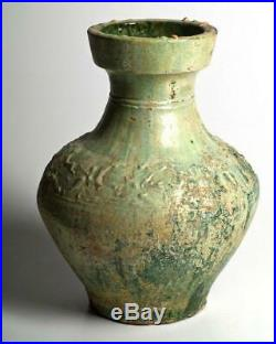 A large Chinese Green Glazed Hu, Eastern Han Dynasty, 25 220 CE
