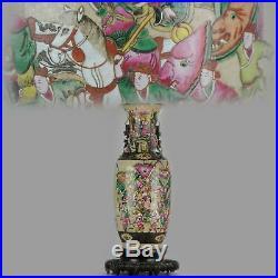 Antique Ca 1900 Nanking Warrior vase China Chinese Republic Large
