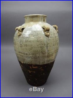 Antique Chinese Large Stoneware Glazed Storage/ Water Jar 18 inches
