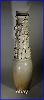 Antique Chinese Qingbai Large Earthenware Funerary Vase Song Dynasty