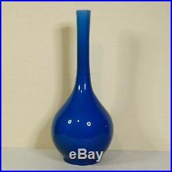 Antique Chinese ceramic turquoise large vase, 18th-19th century