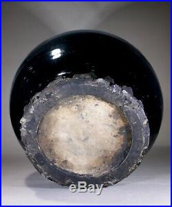 Antique Large Chinese Black Ware Cizhou Jar Song Dynasty