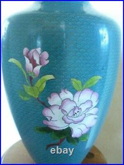 Antique/Vintage Chinese Cloisonne Vase Large 15 19/20th Century flowers decor
