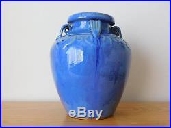 C. 20th Chinese Blue Monochrome Large Porcelain Vase