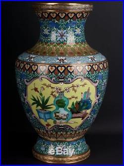 China 20. Jh. Große -A Large Chinese Cloisonne Enamel Vase Vaso Cinese Chinois