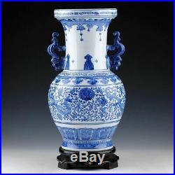 Chinese Blue Porcelain White Vase And Vintage Jar Rare Large Vases Hand Dragon