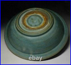 Chinese Old Song Longquan Celadon Large Plate / W 32.3cm / Pot Ming Bowl Qing