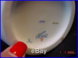 FZ00208 Franz Porcelain DRAGONFLY DESIGN WHITE BISQUE Large Vase MINT IN BOX
