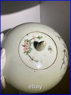 Fantastic Large Antique Chinese Porcelain Vase/Jar Peach Blossom Tree and Family