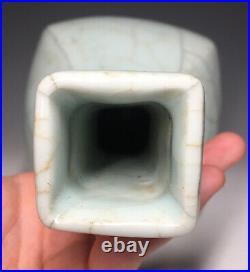LARGE Guan / Ru Pale Blue Green Crackle Glazed Chinese Porcelain Vase