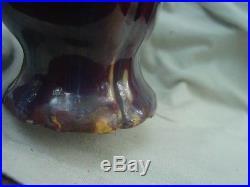 Large 13 Inch Tall Chinese Flambe Glazed Vase Nr