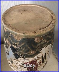 Large 15 Antique Asian CHINESE Painted VASE Art POTTERY Early Ceramic