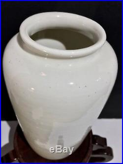 Large 17th18th C. Antique Chinese Blanc De Chine Porcelain Kangxi Lantern Vase