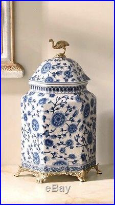Large 38 cm Chinoiserie jar Blue and White Chinese Porcelain Ginger Jar