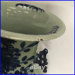 Large Antique Blue And White Chinese Arrow Vase Dragon Design Height 43cm