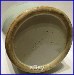 Large Antique Blue and White Chinese Celadon Ground Vase 19th Century
