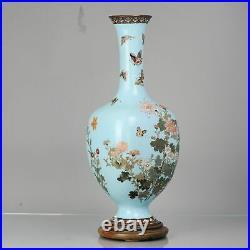 Large Antique Bronze Vase Cloisonné Japan Meiji 19th century Japanese