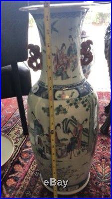 Large Antique Chinese Porcelain Famille Vase