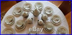 Large Antique Japanese Porcelain Kutani Tashiro Tea Set 1912
