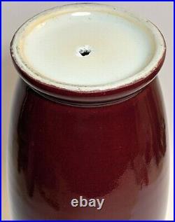 Large Antique (Republic-19th C) Qing period Oxblood/Sang de Boeuf Baluster Vase