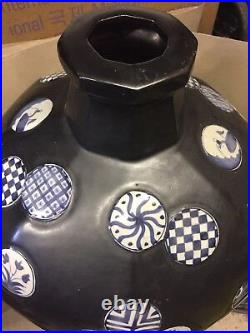 Large Black Meiping Jar Chinese Vase Cost £800 Bargain Price