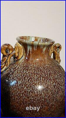Large Chinese Antique Qing Dynasty Trans-mutational Flambe glazed Vase