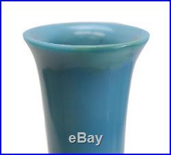 Large Chinese Clair de Lune Blue Glass Vase, circa 1870