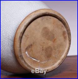 Large Chinese Qing Dynasty Old Ge Kiln Vase Porcelain Dragon ear Bottle JZ218