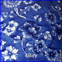 Large Exquisite Chinese Blue And White Porcelain Vases Marks KangXi 13.74H