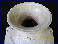 Large Han Dynasty Red Clay Earthtone YUE WARE Storage Jar Pottery Vase