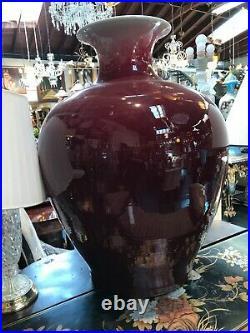 Large Red Porcelain Vase