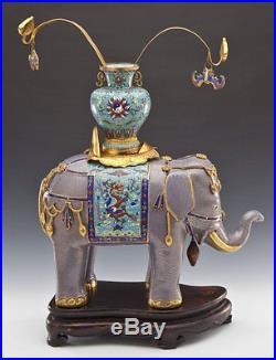Large Vintage Chinese Cloisonné Enamel Elephant
