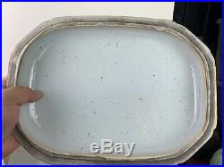 Large antique chinese blue and white tureen