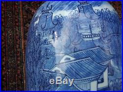 Large blue and white Chinese vase