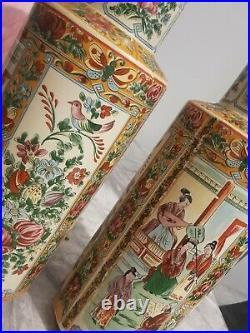 Pair large chinese vases rare