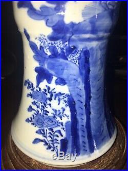 Perfect Qing Dynasty Antique Chinese Blue and White Large Gu Vase Kangxi Mark