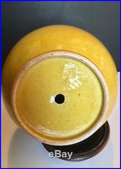 Rare Chinese Antique Hu Handle Vase Beautiful Large Imperial Yellow Ground Glaze