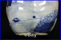 Rare Large Old Chinese Blue And White Five Tubes Porcelain Vase Kangxi Marked