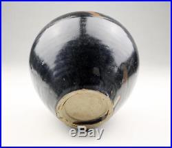 Superb Large Antique Chinese Jin / Yuan Splashed Brown Black Temmoku Cizhou Jar