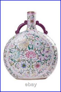 Vintage Antique 20th Original FAMILLE ROSE Large Chinese porcelain vase 49 cm