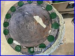 Vintage/Antique Large Chinese Ceramic 9-Dragon Vase. Raised figures. 23x13 27 lb