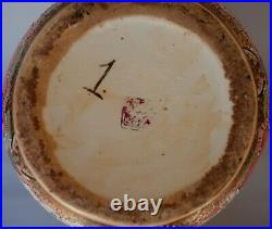 Vintage Chinese Porcelain Famille Rose Large Gold Hand Painted Vase 20- Marked